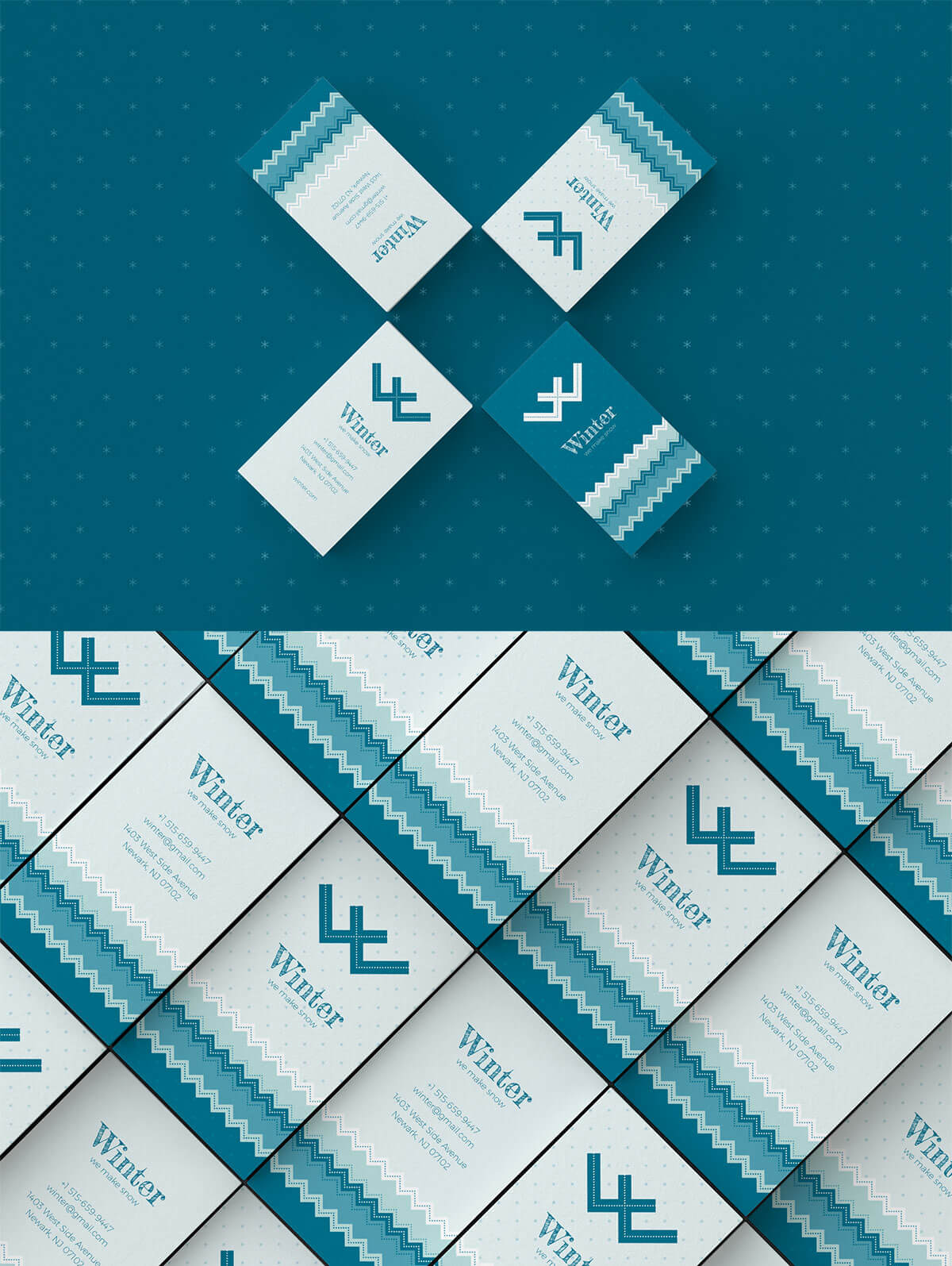 Free Winter Business Card Templates