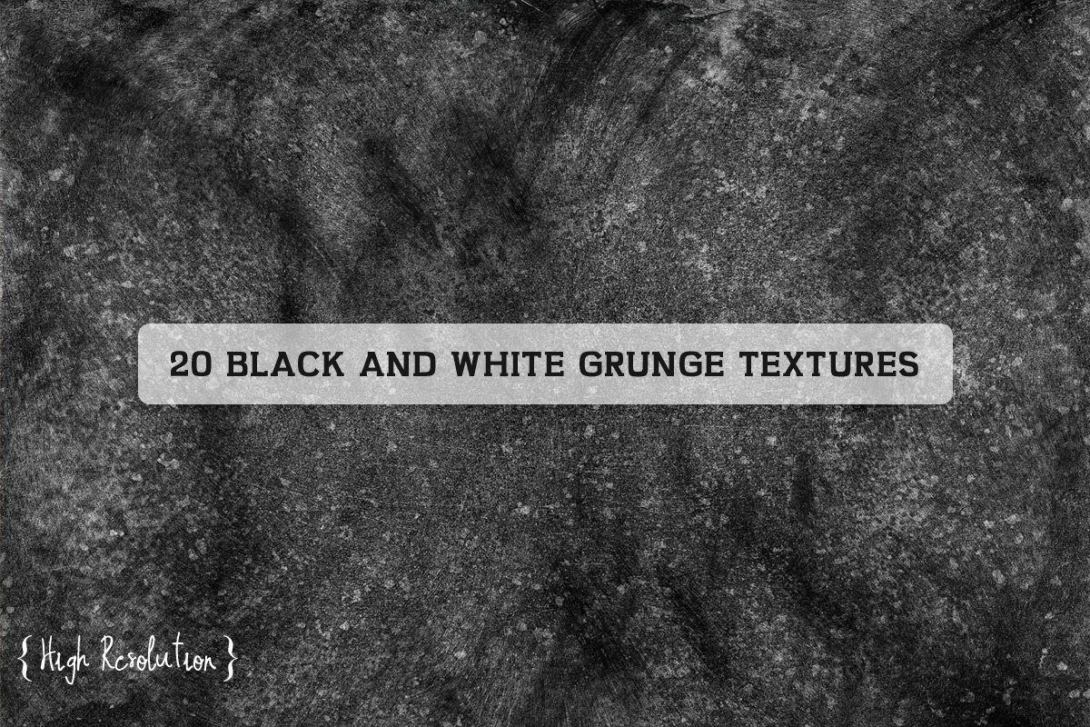 20 Free High Resolution Black And White Grunge Textures ~ Creativetacos