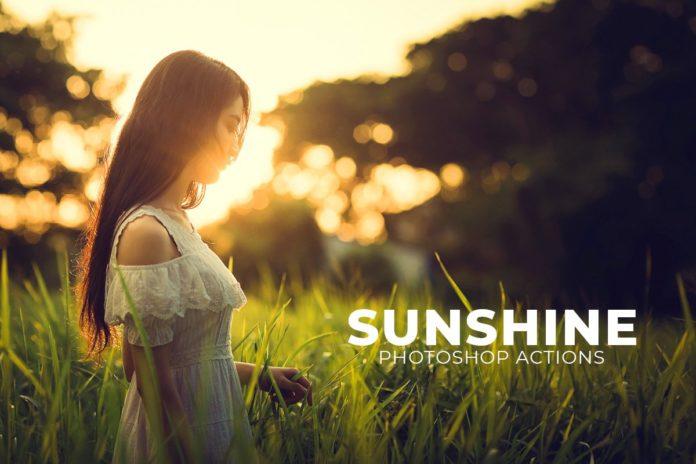 3 Free Sunshine Photoshop Actions