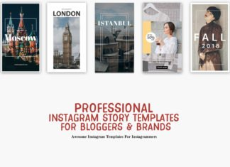 10 Professional Instagram Story Templates for Bloggers & Brands