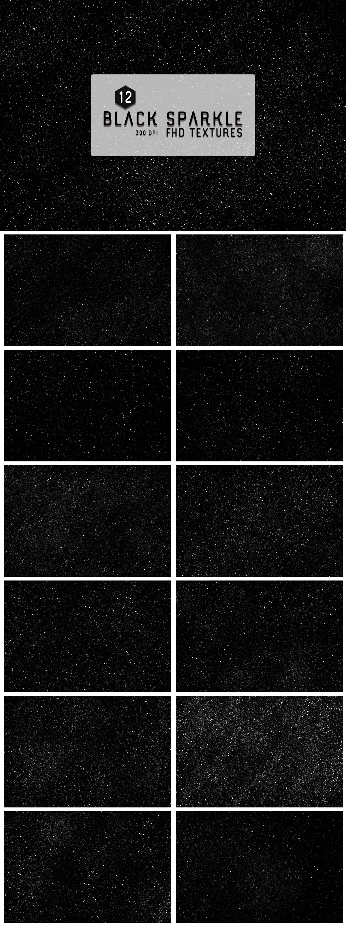 12 Free Black Sparkles Textures Backgrounds