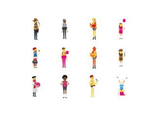 12 Free Vector Characters