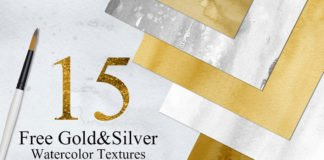 Gold Silver Colors Watercolor Textures