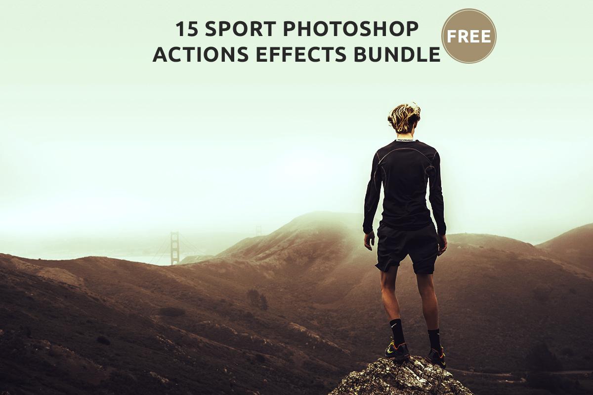 15 Free Sport Photoshop Actions Effects Bundle - Creativetacos