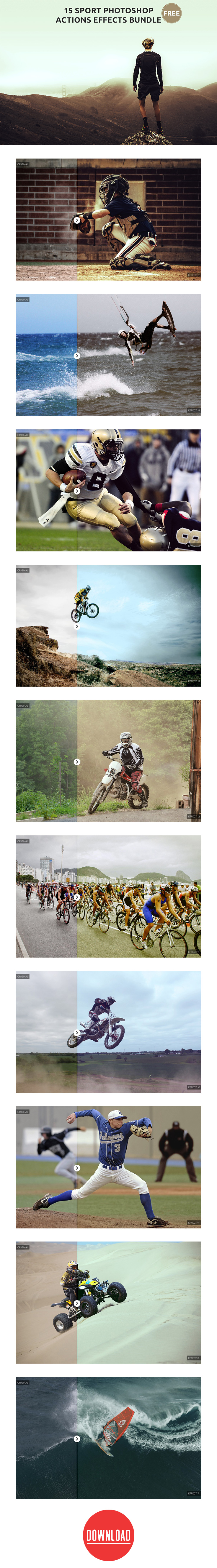 #Sports #Photo Effects #Photoshop actions bundle was first created by us and was very popular and it still is trending and an amazing tool that not only lets you create amazing photos & graphics but also helps you to automate your work and save your time. These Photoshop action will help you achieve that cool sharp look.