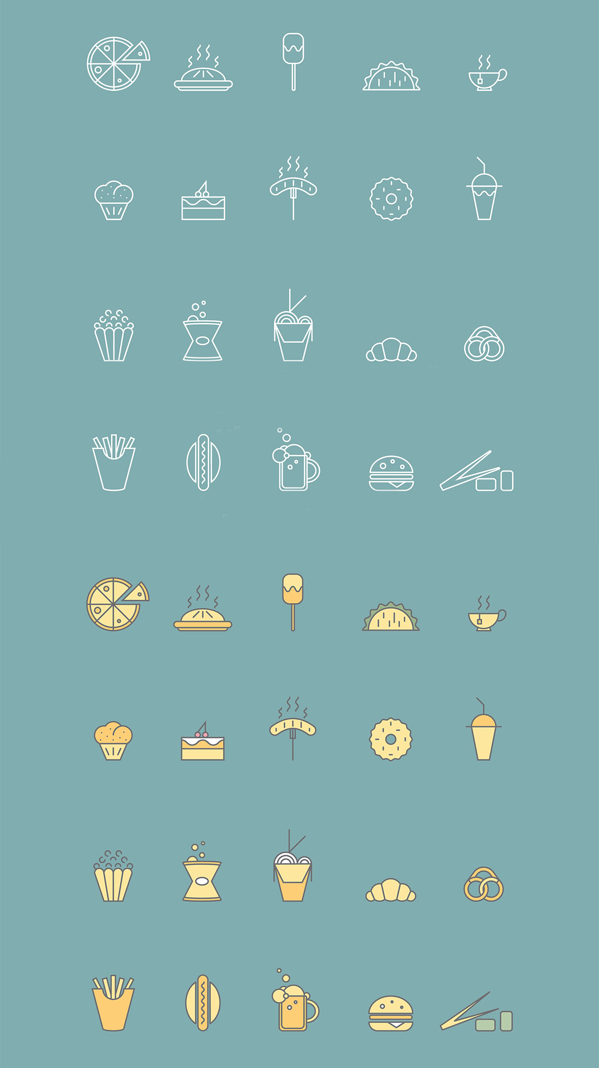 20 Free Food Vector Icons