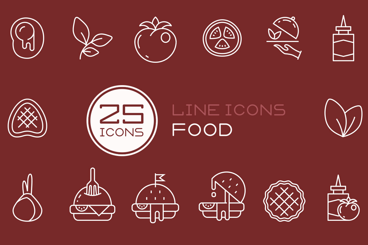 25 Free Food Vector Icons