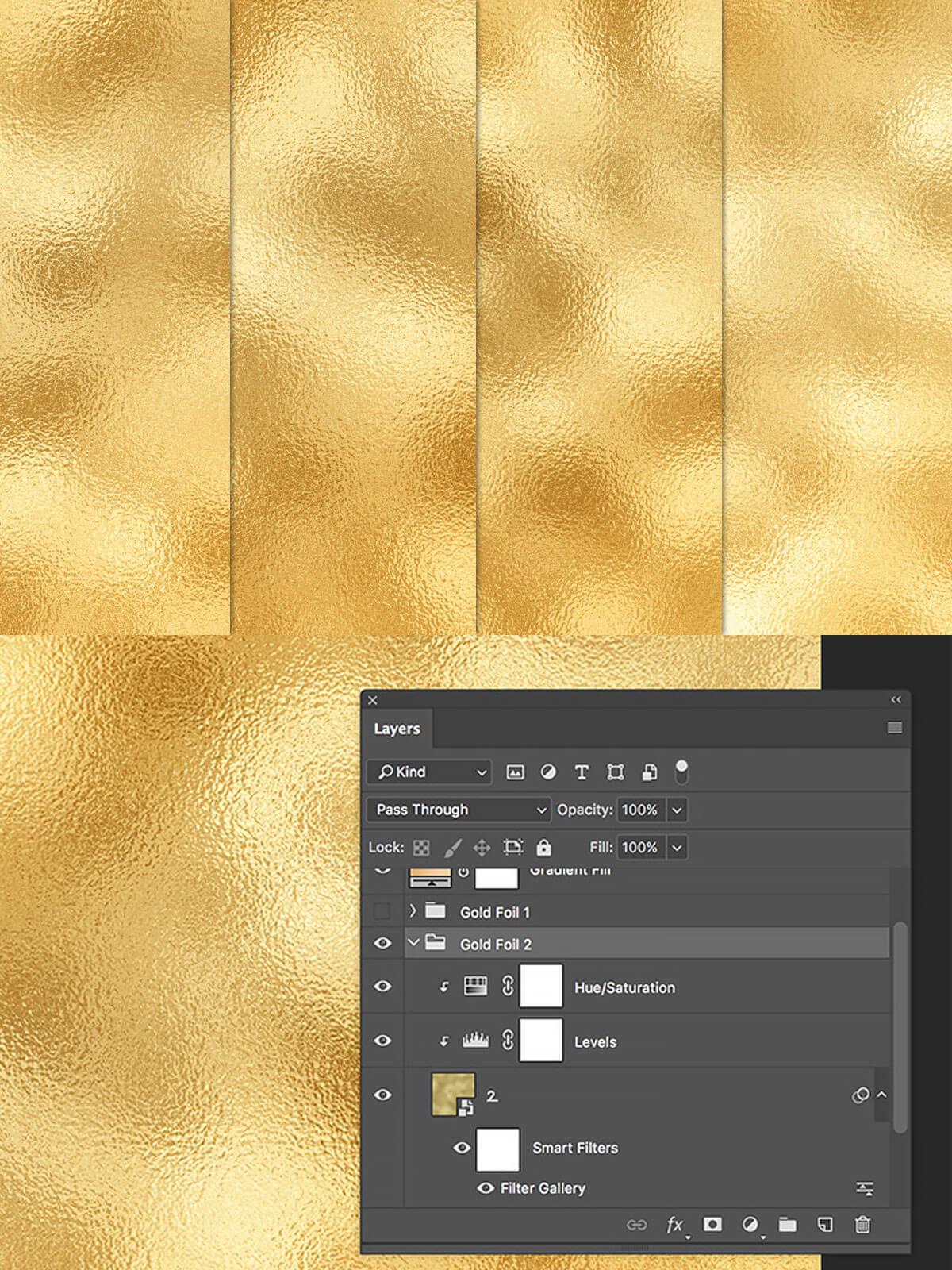 4 Free Gold Foil Textures