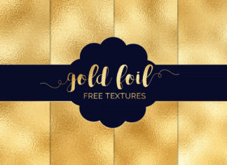 4 Free Gold Foil Textures Pack