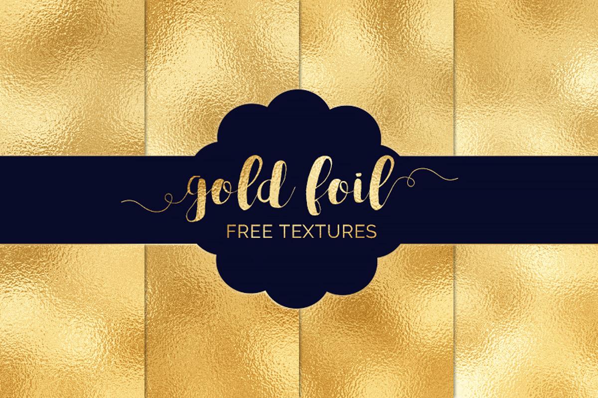 4 Free Gold Foil TexturesPack