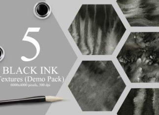 5 Free Black Ink Textures