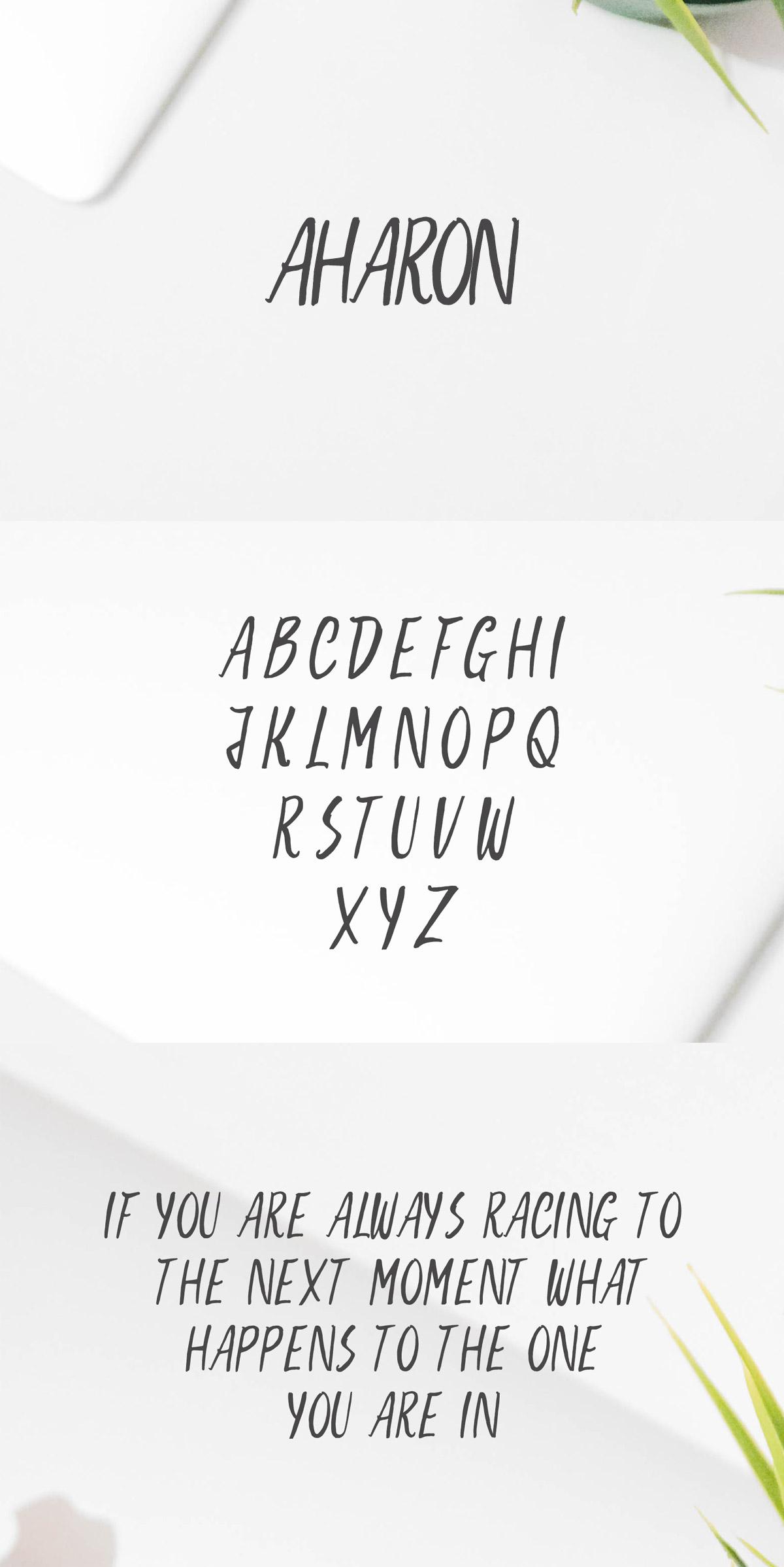 Free Aharon Handwritten Brush Font