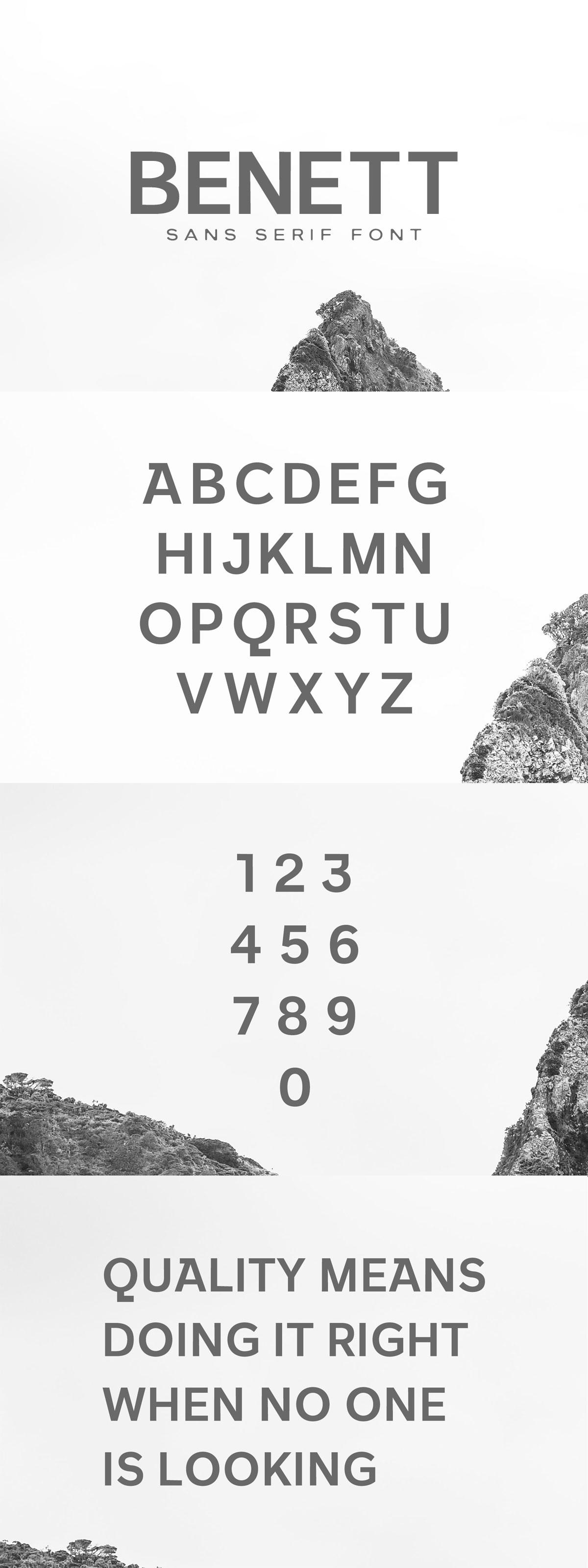 Free Benett Sans Serif Font