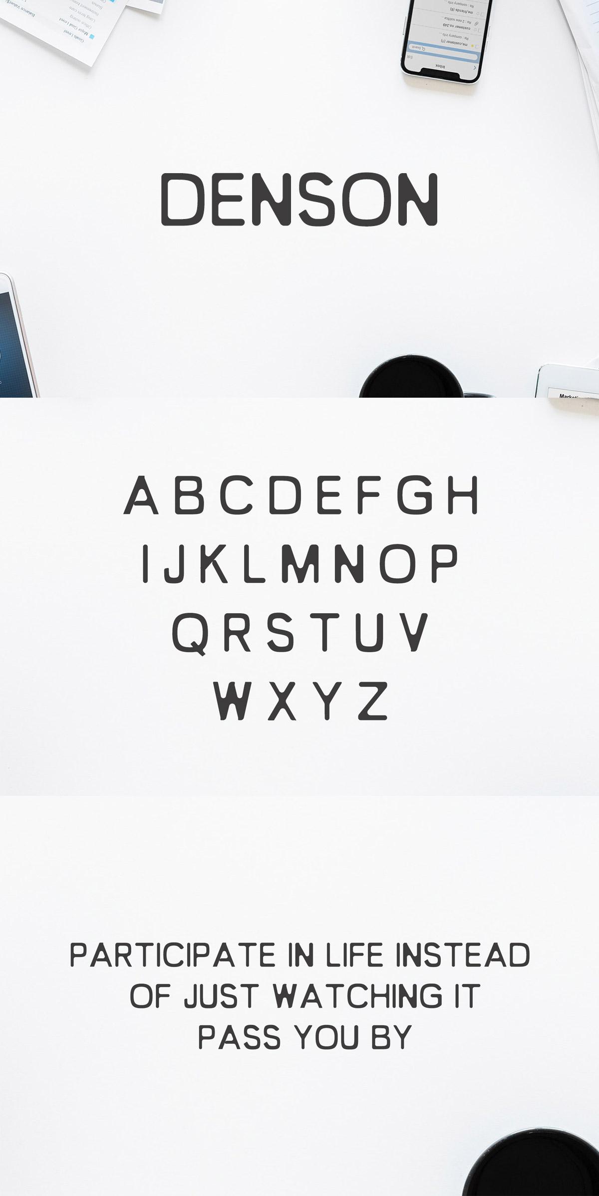 Free Denson Sans Serif Font