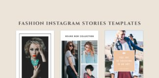 3 Free Fashion Instagram Stories Templates