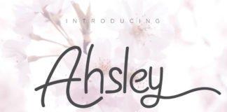 Free Ahsley Script Font