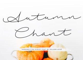 Free Autumn Chant Handwritten Script Font