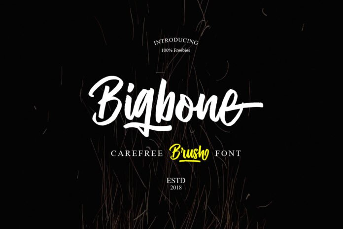Free Bigbone Brush Font