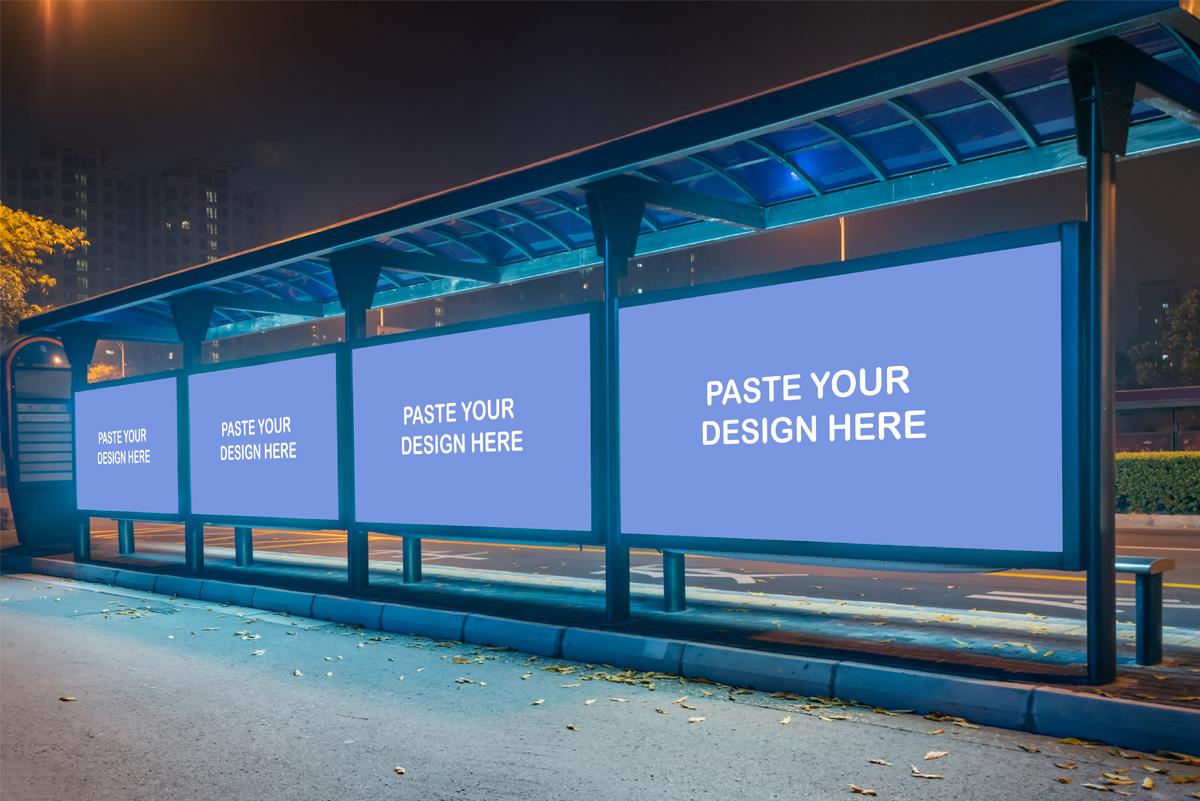 Free Billboard Hoarding PSD Mockup