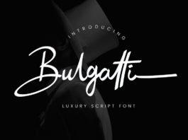 Free Bulgatti Luxury Script Font