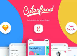 Free Caterfood Catering Service UI Kit