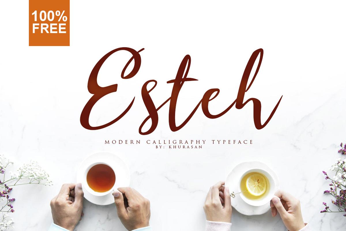 Free Esteh Script Font