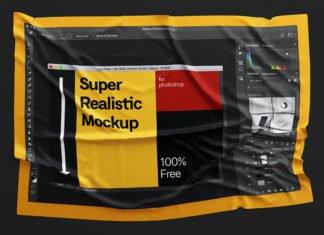 Free Fabric Wrinkles Mockup