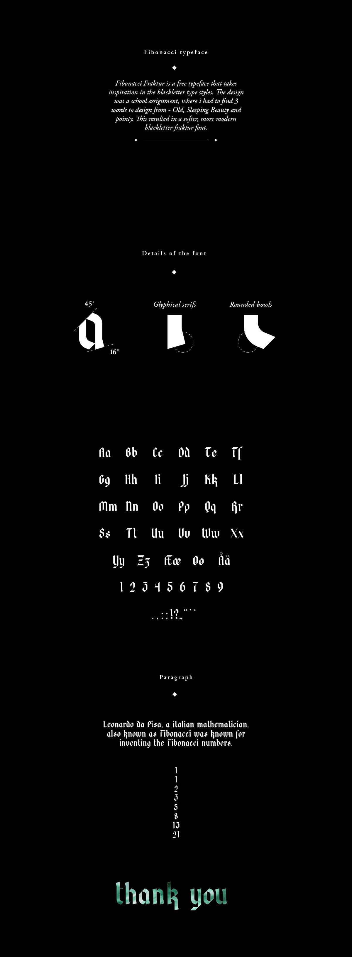 Free Fibonacci Fraktur Blackletter Font