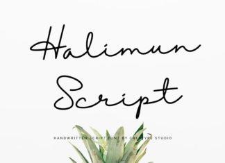 Free Halimun Handwritten Script Font