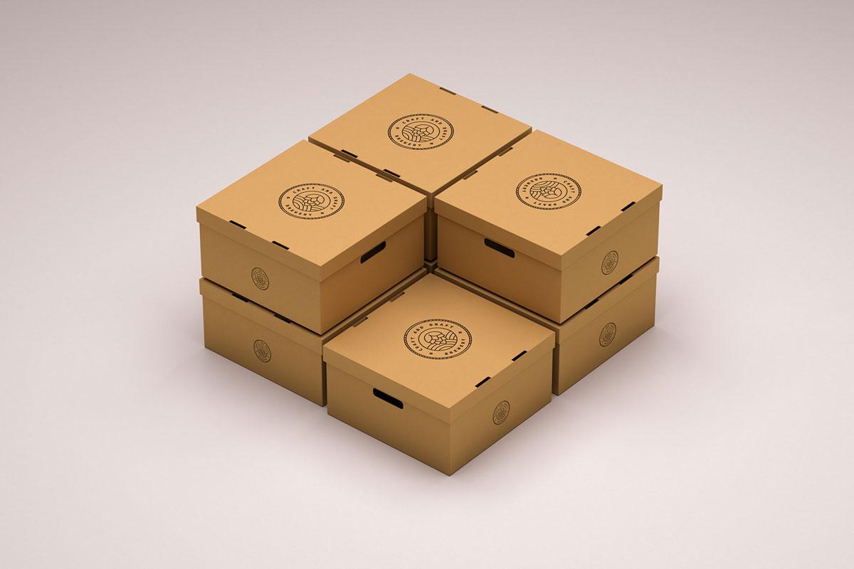 Free Package Branding Mockup