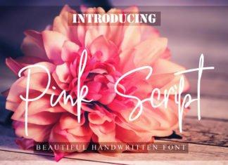 Free Pink Handwritten Script Font