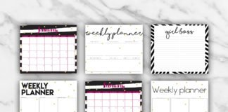 Free Printable Planner Template 2018