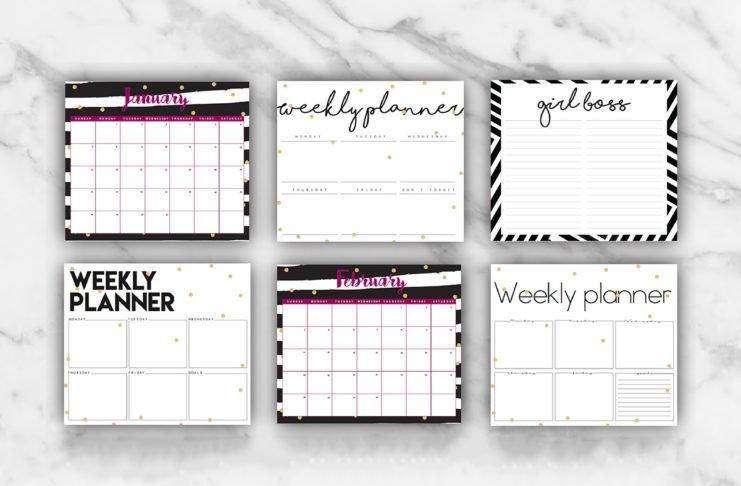 Free Printable Planner Template 2018