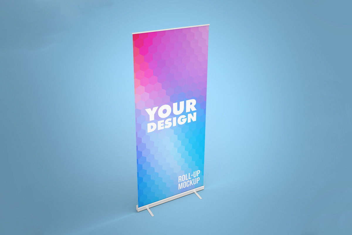 Free Rollup Banner Mockup PSD