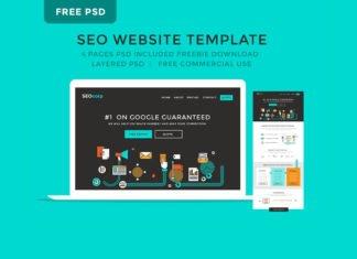Free SEO Website PSD Template