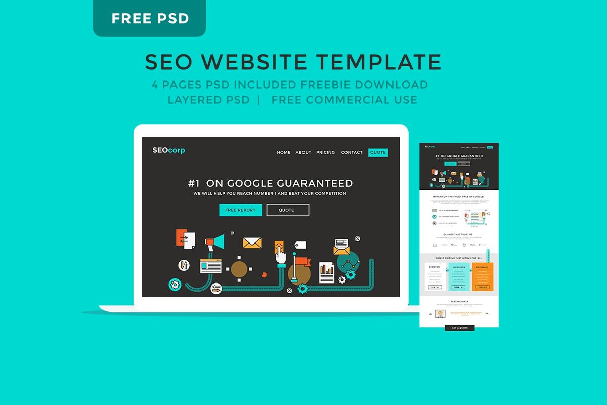 Free seo website psd template creativetacos free seo website psd template maxwellsz