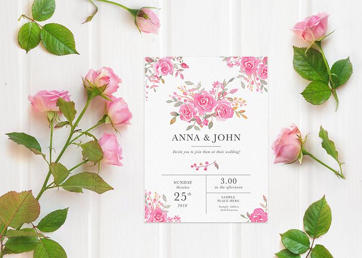 Free wedding invitation card mockup creativetacos free wedding invitation card mockup is a fresh romantic mockup with beautiful roses stopboris Choice Image