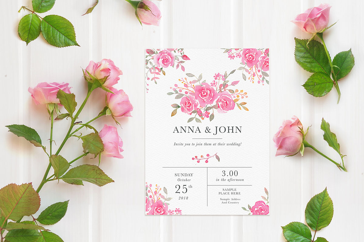 Free wedding invitation card mockup creativetacos free wedding invitation card mockup stopboris Image collections