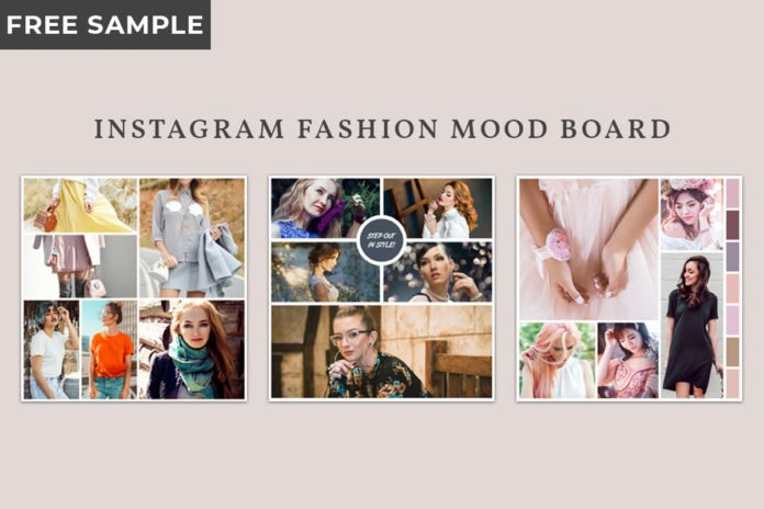 3 Free Instagram Fashion Mood Board