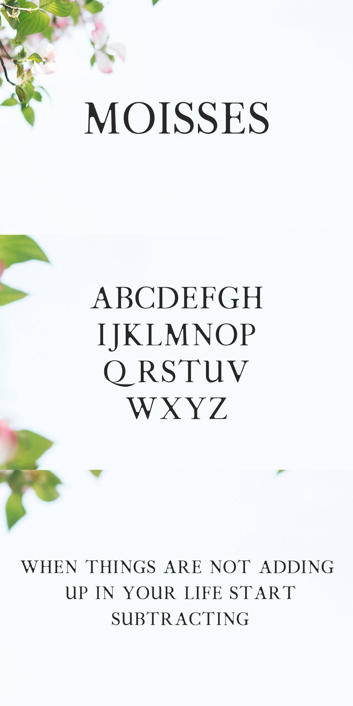 Free Moisses Serif Font