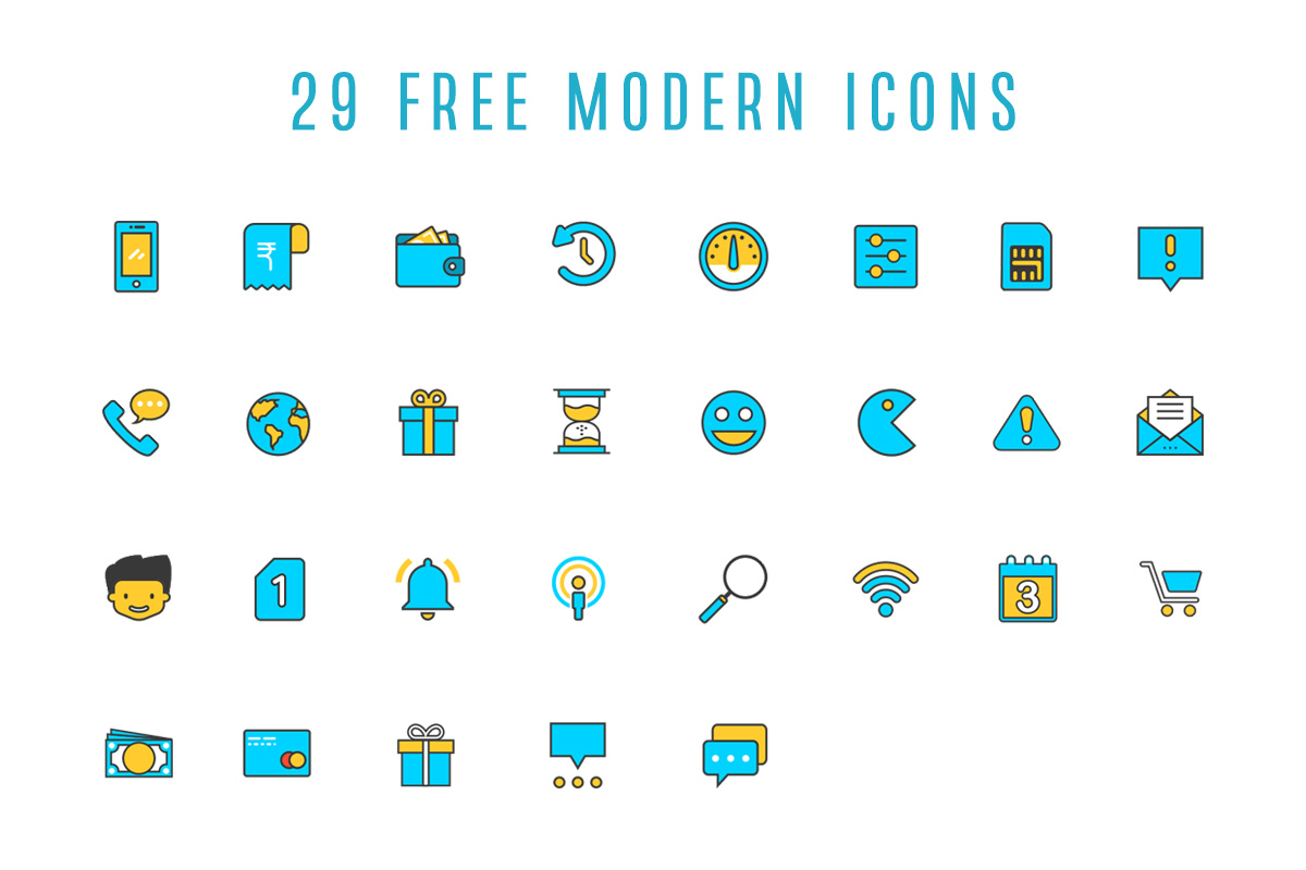 29 Free Modern Icons