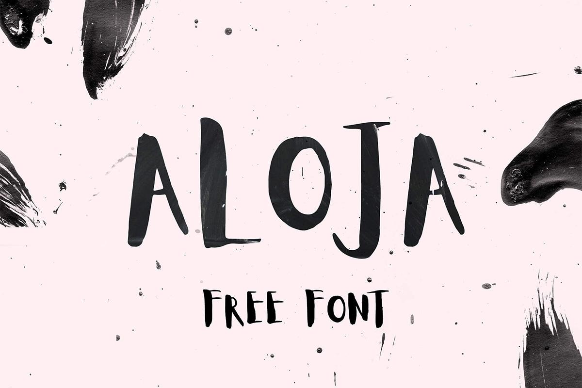 Free Aloja Handwriting Font