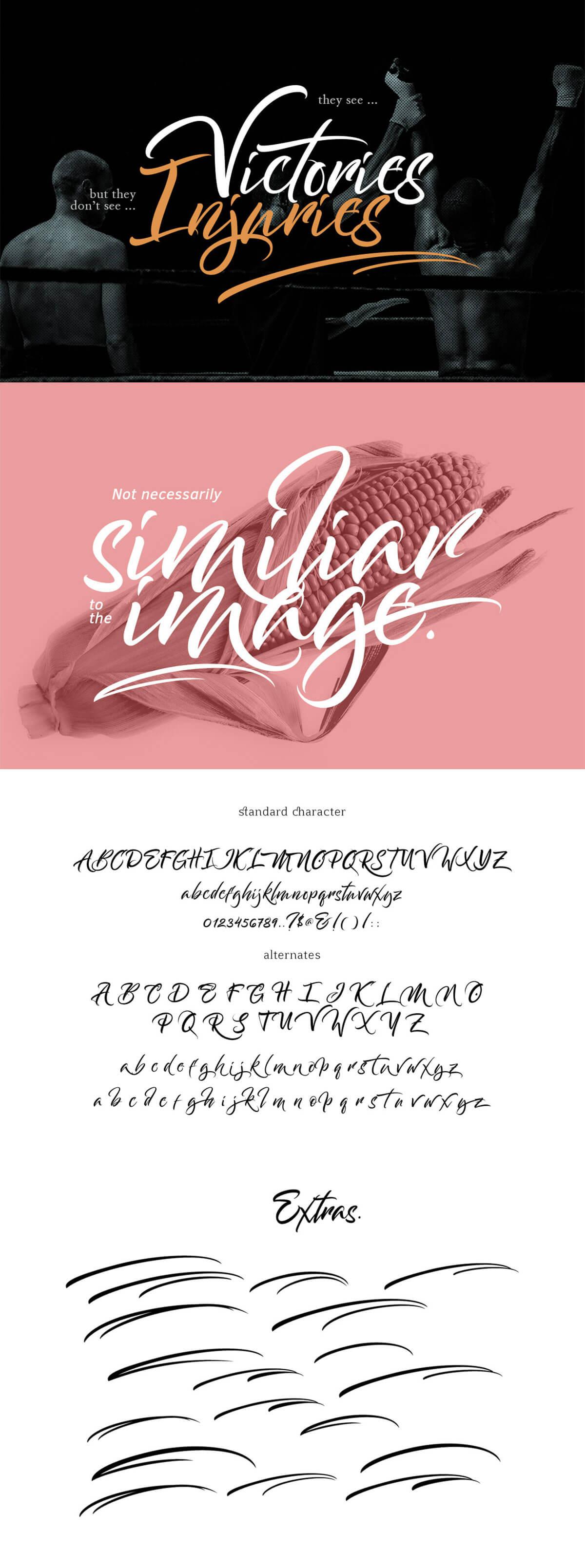 Free Bantham Brush Typeface