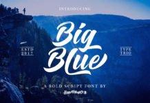 Free Big Blue Script Font Family