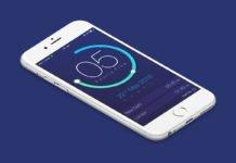 Free Clock App UI Design PSD