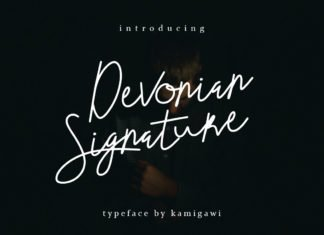 Free Devonian Signature Font