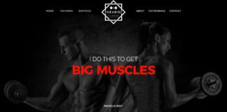 Free Gym Website PSD Template