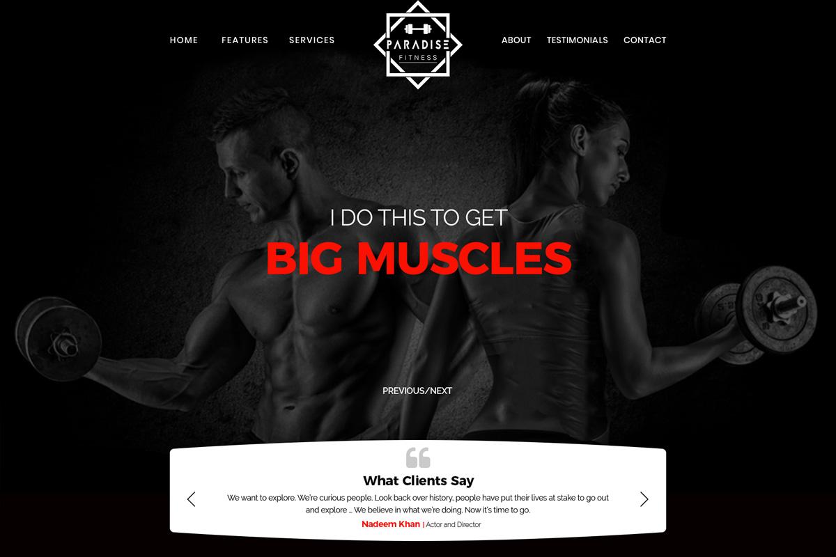 Free Gym Website PSD Template