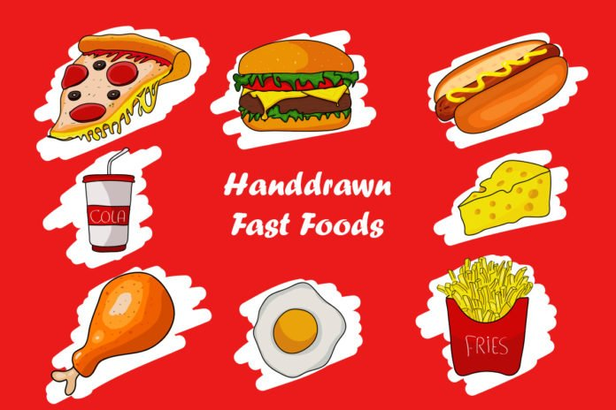 Free Handdrawn Fast Foods Vector