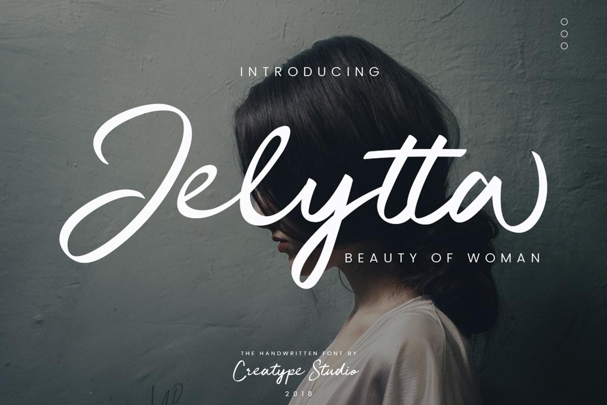 Free Jelytta Handwritten Script Font